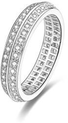 Silberring mit Kristallen AGG203