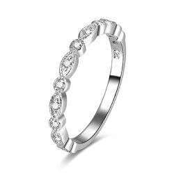 Stříbrný prsten se zirkony AGG167