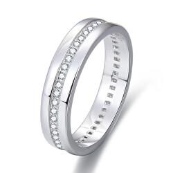 Strieborný prsteň so zirkónmi AGG330