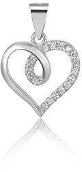 Ciondolo in argento a forma di cuore AGH95