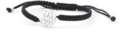 Štýlový čierny šnúrkový kabala náramok Mandala AGB545