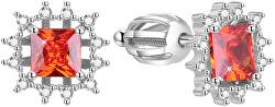Třpytivé stříbrné náušnice AGUP1522S