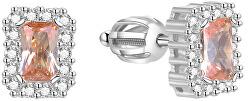 Třpytivé stříbrné náušnice AGUP1525S