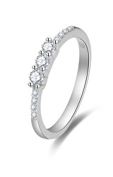 Třpytivý zásnubní prsten se zirkony AGG464