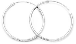 Csodálatos ezüst karika fülbevaló AGUC2103/50/N