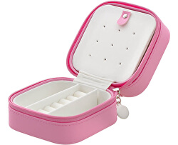 Cutie de bijuterii roz strălucitoare