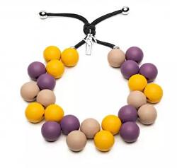 Originální náhrdelník C206BM3 Viola – Giallo – Beige