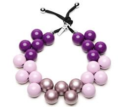 Originálne náhrdelník C206MSEAS-029 Viola Dalia - Malva - Lilla Metal