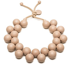 Originálne béžový náhrdelník Bioballs Beige C206-0002 BE
