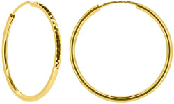 Dámske náušnice kruhy zo žltého zlata P005.750132010.75