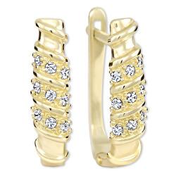 Dámske zlaté náušnice s kryštálmi 239 001 00980