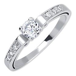 Dámsky prsteň z bieleho zlata s kryštálmi 229 001 00498 07