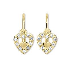 Cercei pentru fete, inimi din aur 239 001 00779
