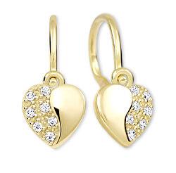Dívčí srdíčkové náušnice ze zlata 239 001 00879
