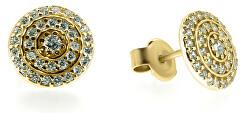 Elegantní náušnice ze žlutého zlata SILVER010_AU_Y