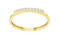 Elegáns sárga arany gyűrű cirkónium kövekkel GR067YAU