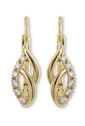 Elegantní zlaté náušnice s krystaly 745 239 001 01087 0000000