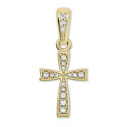 Jemný prívesok krížik zo žltého zlata 249 001 00570