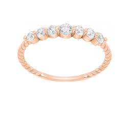 Gyengéd rózsaszín arany gyűrű cirkónium kővel GR162RAU