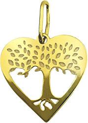 Krásny zlatý prívesok Srdce a strom života PA7002