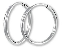 Kruhové náušnice z bieleho zlata 231 001 00486 07
