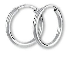 Kruhové náušnice z bieleho zlata 231 001 00487 07