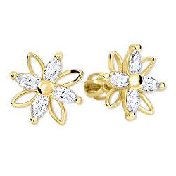 Květinové náušnice s krystaly 239 001 00920