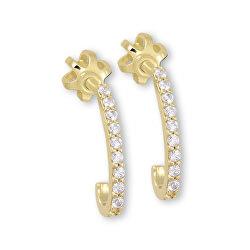 Cercei Minimalisti din aur cu cristale 745 239 001 01125 0000000