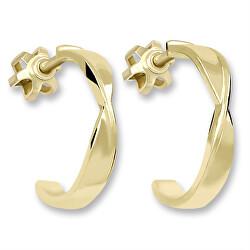 Módní půlkruhové náušnice ze žlutého zlata 231 001 00649