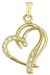 Módne zlatý prívesok Srdce 249 001 00431