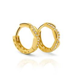 Csodálatos arany fülbevaló csillogó cirkónium kövekkel  AUP0016