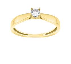 Időtlen eljegyzési gyűrű sárga aranyból GR114YAU