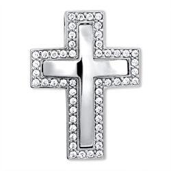 Nádherný prívesok z bieleho zlata Křížek 249 001 00242 07