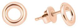 Náušnice z růžového zlata kroužky GOLD009_AU_R