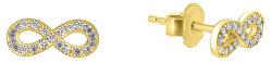 Náušnice zo žltého zlata nekonečno GOLD050_AU_Y