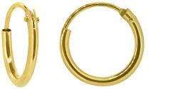 Nežné dámske náušnice kruhy zo žltého zlata P005.740111304DK.74