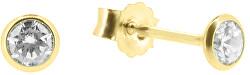 Něžné náušnice pecky ze žlutého zlata P005.704001.70.70