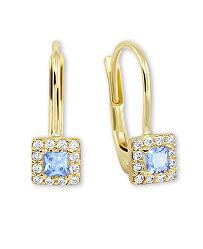 Něžné zlaté náušnice s krystaly 745 239 001 00553 0000500