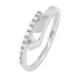Gyengéd női gyűrű fehér aranyból kristályokkal 229 001 00857 07