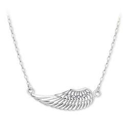 Nežný náhrdelník z bieleho zlata anjelskej krídlo 279 001 00094 07