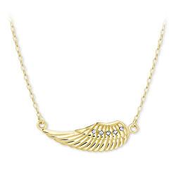 Nežný náhrdelník zo žltého zlata anjelskej krídlo 279 001 00094 00