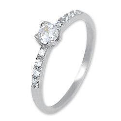 Gyengéd női gyűrű fehér aranyból kristályokkal 229 001 00858 07