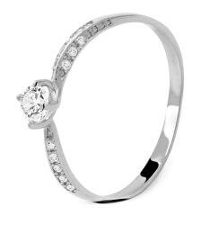 Bájos fehér arany gyűrű cirkónium kövekkel AUG0004-W