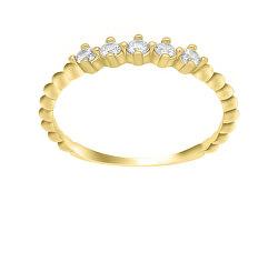 Gyönyörű sárga arany gyűrű cirkónium kövekkel  GR122YAU