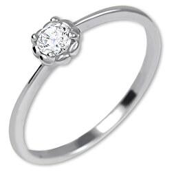 Něžný zásnubní prsten ze zlata 226 001 01034 07