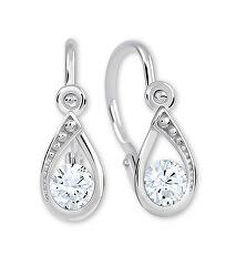 Okouzlující náušnice z bílého zlata s čirými krystaly 236 001 01016 07