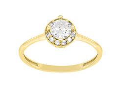 Bájos eljegyzési gyűrű sárga aranyból GR003YAU