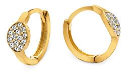 Csodálatos arany fülbevaló csillogó cirkónium kövekkel AUP0013