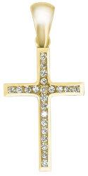 Prívesok krížik zo žltého zlata CSR024_AU_Y