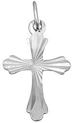 Přívěsek z bílého zlata Křížek s rytím 241 001 01032 07